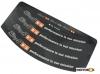 Nalepnice felne S6 12-13cola crne
