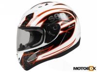 Kaciga S6 Racing white/orange S