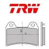 Plocice kocnica TRW MCB683 (ORGANIC)