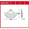 Plocice kocnica TRW MCB550 (ORGANIC)
