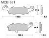 Plocice kocnicaTRW MCB681SV sinter