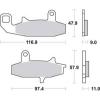 Plocice kocnica TRW MCB597(ORGANIC)