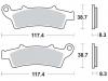 Plocice kocnica TRW MCB726 ORGANIC