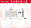 Plocice kocnica TRW MCB540 ORGANIC