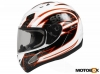 Kaciga S6 Racing white/orange L